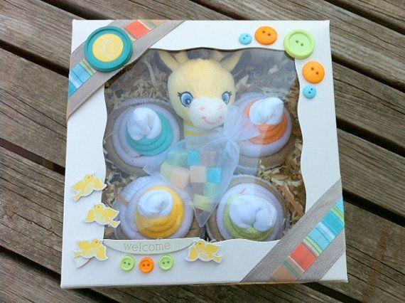 Washcloth/Onesie Cupcakes  Neutral