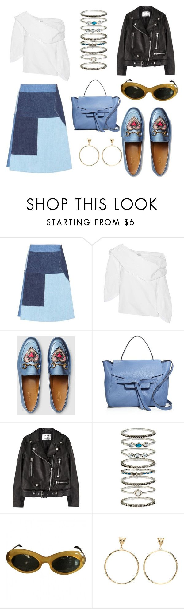 """Untitled #1997"" by elsie-jones ❤ liked on Polyvore featuring M.i.h Jeans, Rosie Assoulin, Gucci, Annabel Ingall, Acne Studios, Accessorize and Yves Saint Laurent"