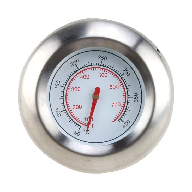AGPtek Stainless Steel (Silver) 3 BBQ Grill Cooking Thermometer Temperature Gauge (50-400℃/100-700℉)