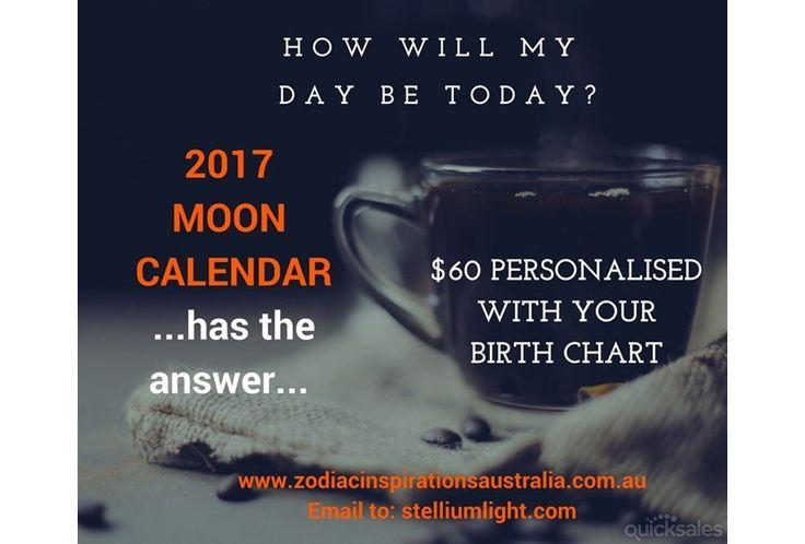 Moon Calendar 2017 www.zodiacinspirationsaustralia.com.au Email to: stelliumlight@gmail.com
