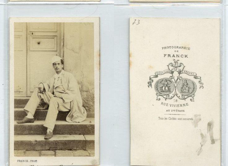 Franck, École militaire de Saint-Cyr, Albert de Rougé, boulanger militaire     #CDV #portraits #Militaires