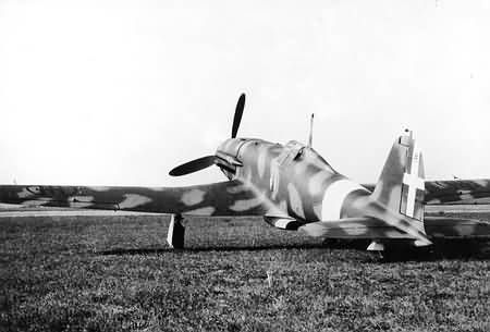 Fiat G.55, MM492, the second prototype, pictured at the test center of the Italian AF.