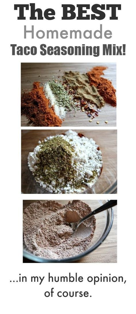 How to make your own homemade taco seasoning mix! This way is way tastier than using those little packets and so much better for you too!