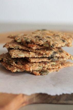 """recette """"Knækbrød ou crackers danois aux graines"""" , pour l'apéro pour aller avec la soupe pour les petits grignotage....testé et approuvé  !"""
