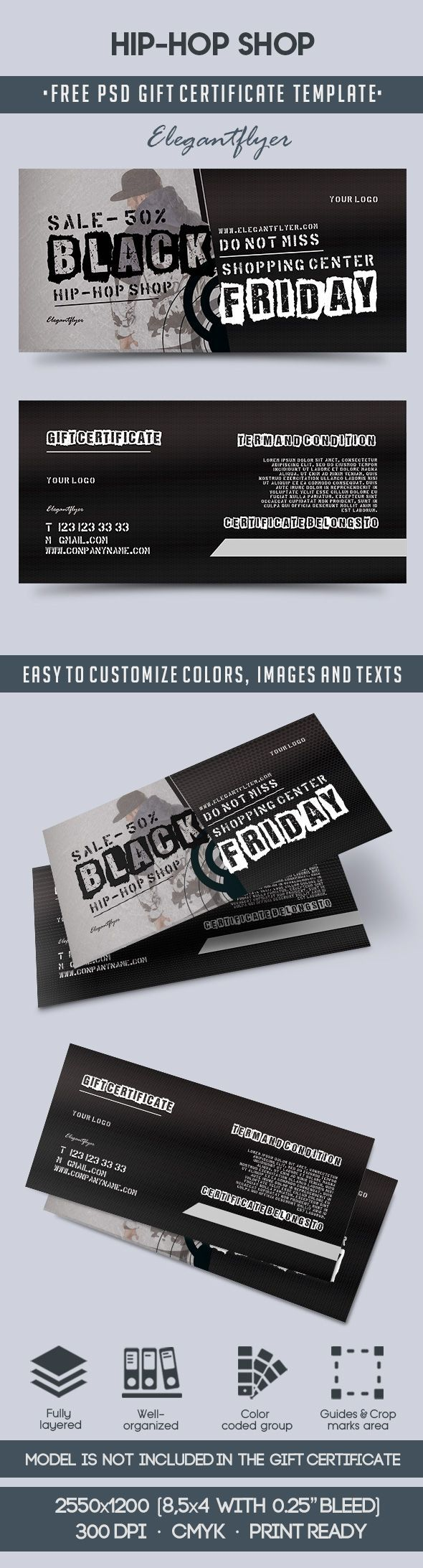 The 66 best free gift certificate templates images on pinterest hip hop shop free gift certificate psd template yelopaper Gallery