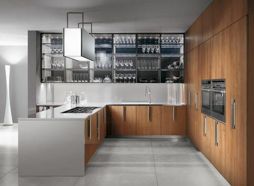 Top 10 Modern Kitchen Design Trends.  A. Nice  wood cabinet without pulls in this article (not this pic)