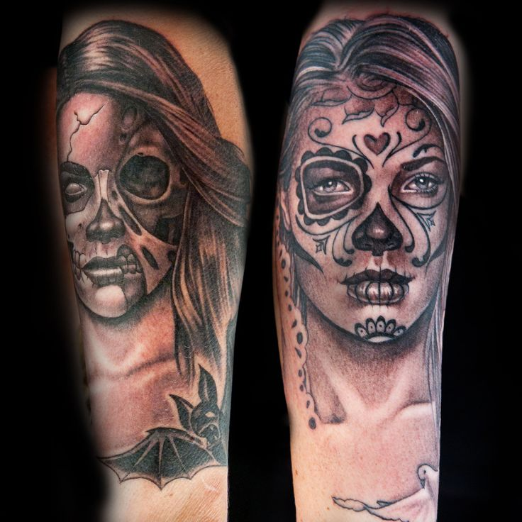 "Check out this high res photo of Katherine ""Tatu Baby"" Flores's tattoo from the Black & Gray episode of Season 2 of Ink Master on Spike.com."