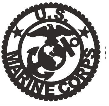Marine Corps Emblem Applique by KathrynsKollections on Etsy