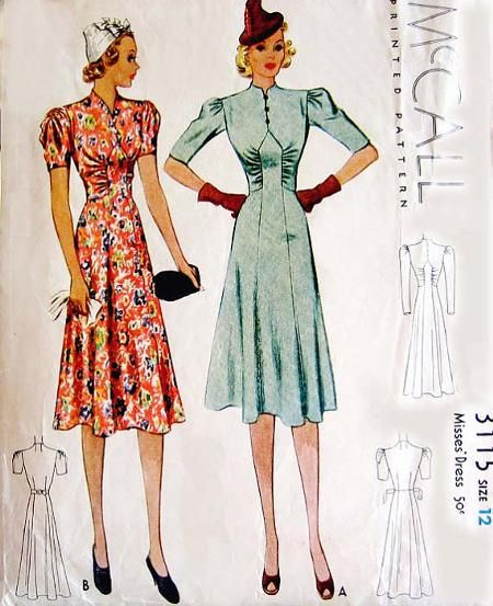 McCall 3115; ©1939; Misses' Dress.