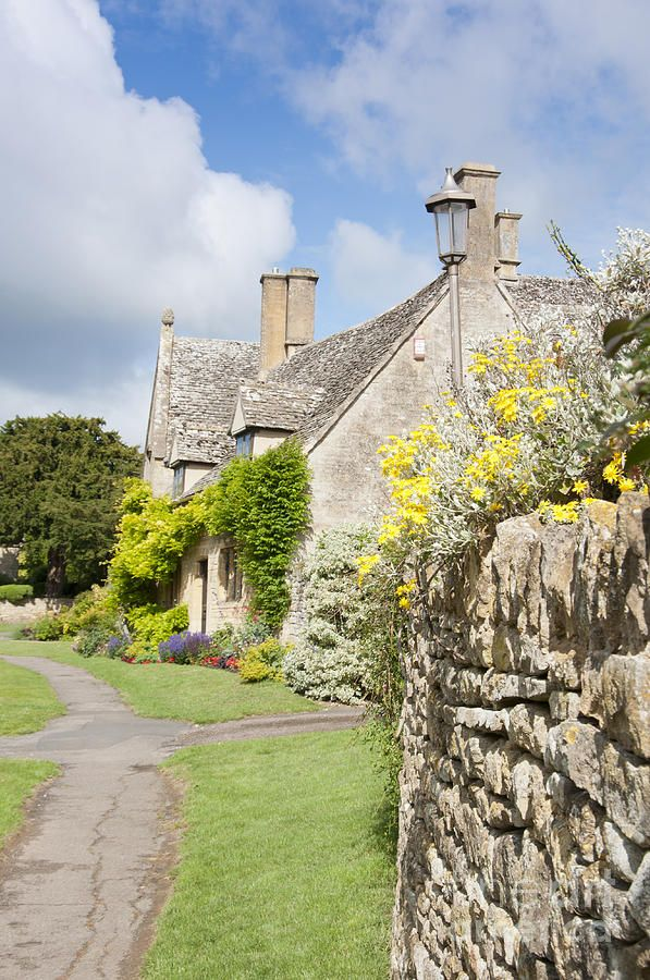 Old stone cottages at the Cotswold Village of Chipping Camden England
