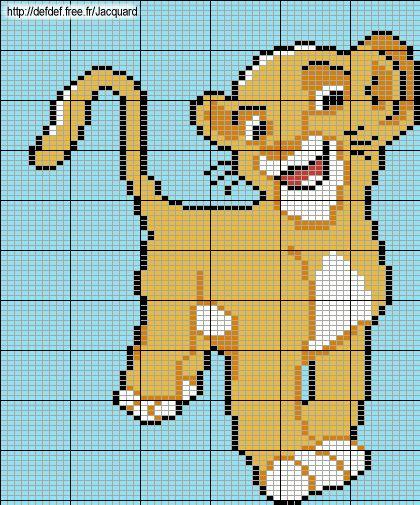 Simba The Lion King perler bead pattern
