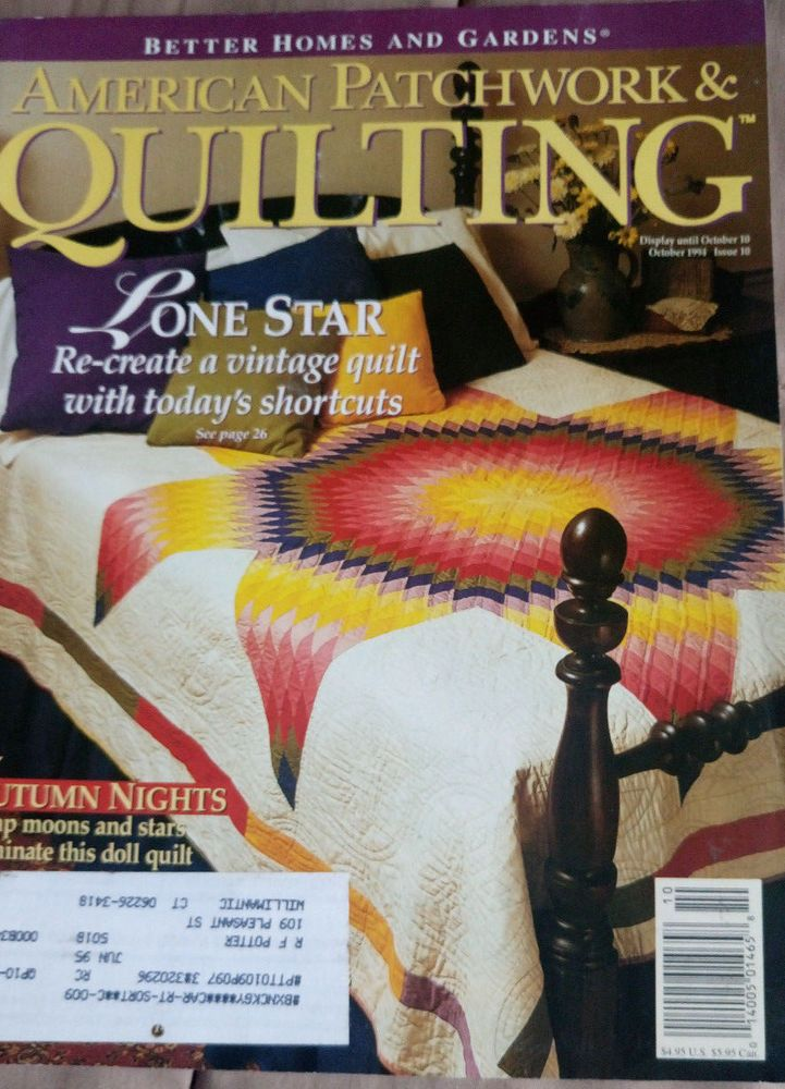 American Patchwork & Quilting magazine October 1994 #BetterHomesGardens