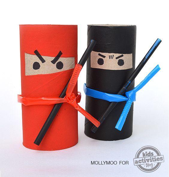 Ninjas en rouleaux de papier toilette:
