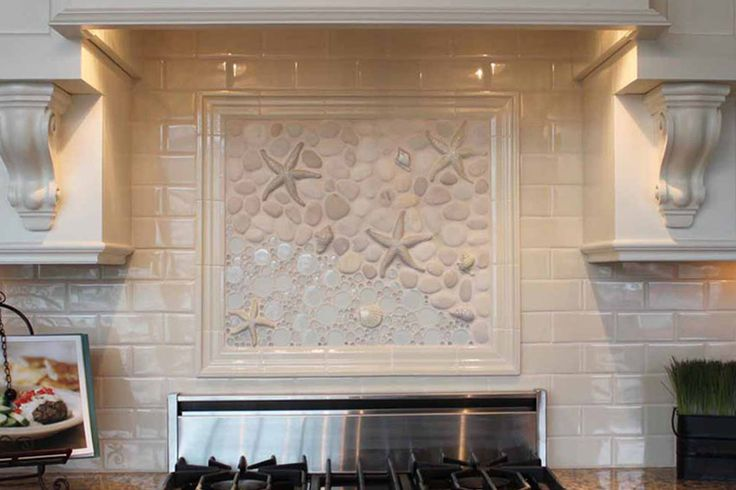 this kitchen backsplash mural is based off our 39 as the tide goes out