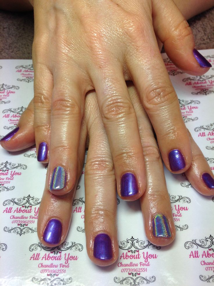 #cadbury #purple with #unicorn #accent nails #gel #manicure