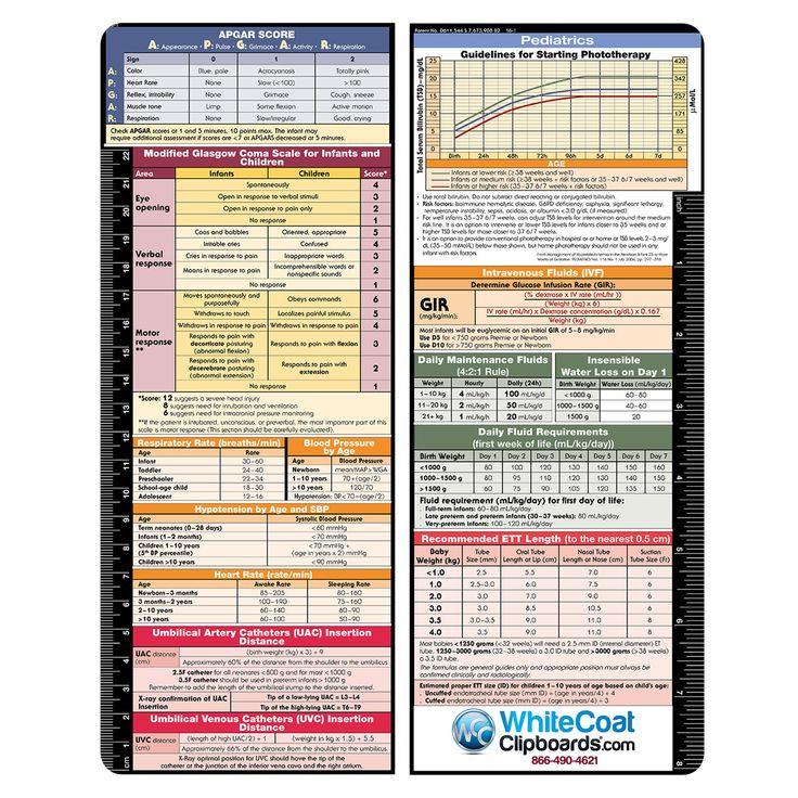 Vertical Pediatric Adhesive Reference Label Pediatrics Apgar Score Labels