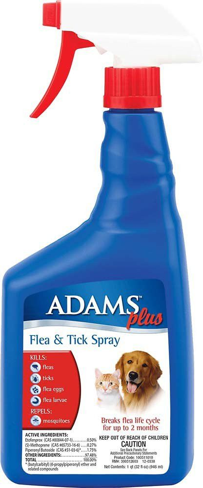 Adams Plus Dog Cat Flea & Tick Spray 32 oz