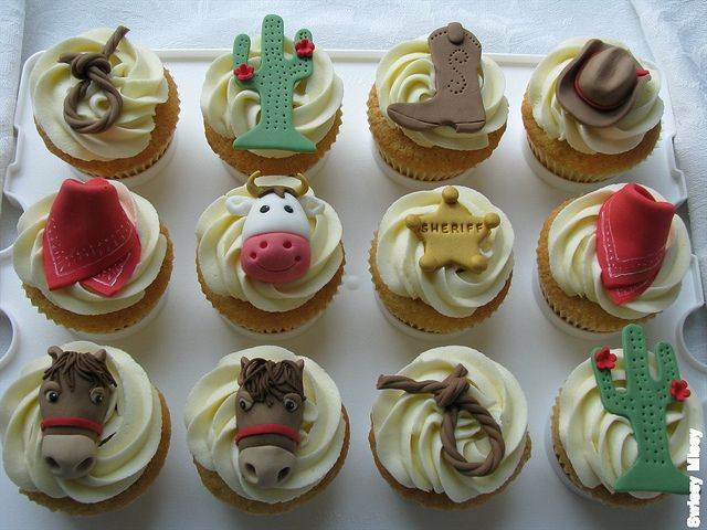 cowboy theme cupcakes: Cowboys Cupcakes, Cowboy Cupcakes, Parties Decorations, Baby Shower Ideas, Barns Farms Westerns Parties, Baby Shower Cowboys Theme, Awesome Cupcakes, Parties Ideas, Photo