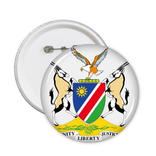 The Republic of Namibia Flag National Emblem Africa Country Round Pins Badge Button Clothing Decoration Gift 5pcs #Office #Namibia #Button #TheRepublicofNamibia #Badge #Africa #Pinsforclothes #NationalEmblem #Clothesbadges #Emblem #Pins #Flag #PVCpatch #ButtonSupply #Kidsgift #SewingAccessories #ClothingDecoration