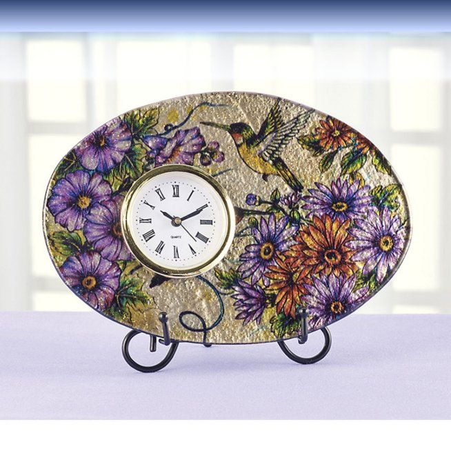 Art Glass Flower Clock
