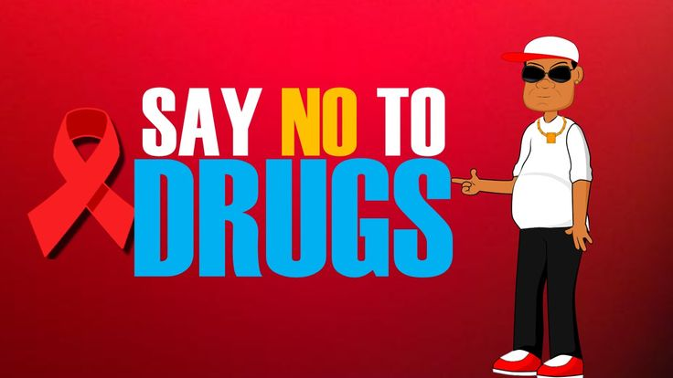 say no to drugs cartoons for kids red ribbon week