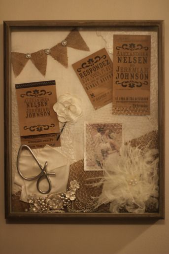 Wedding shadow box. I need to do this for our wedding and one for Chloe