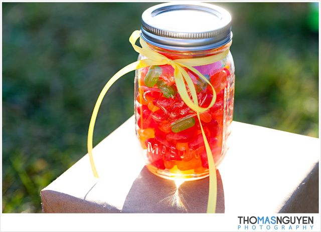 Mason Candy Jar Party Favors #masonjar #partyfavors