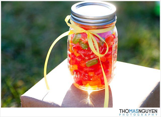 Mason Candy Jar Party Favors #masonjar #partyfavors