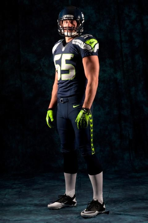 Seattle Seahawks new 2012 uniforms designed by Nike. Can't say it's my favorite.