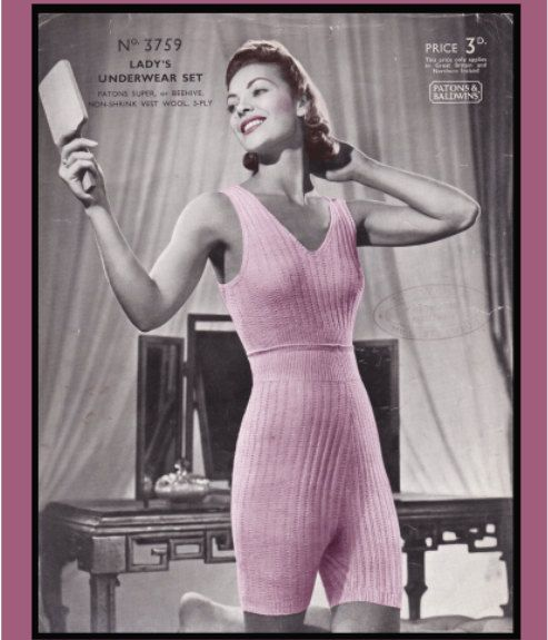 Not sexy but i need one! It is so cold outside at the moment!! Vintage Knitting Pattern 1940's Ladies Lingerie Cami by Mrsdepew, $3.50