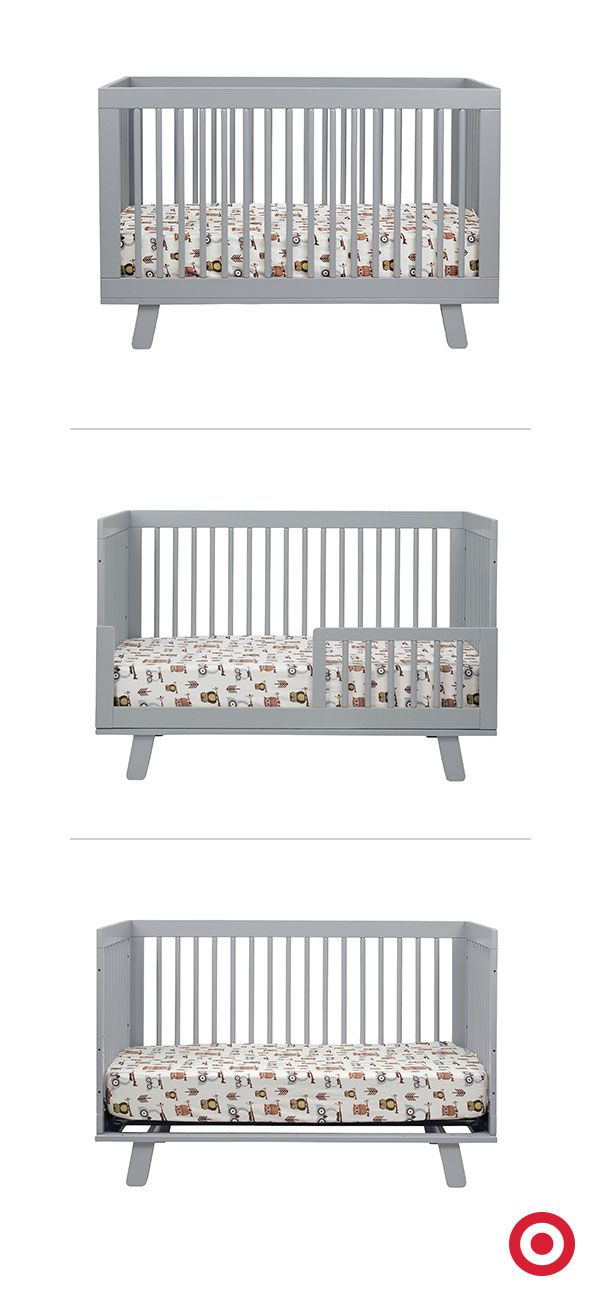 Versatile And Modern, The Babyletto Hudson 3 In 1 Convertible Crib Grows  With