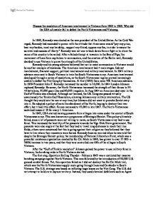 us involvement vietnam war essay Us Involvement In The Vietnam War Essay