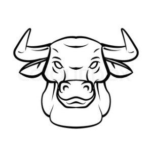 how to draw bull head