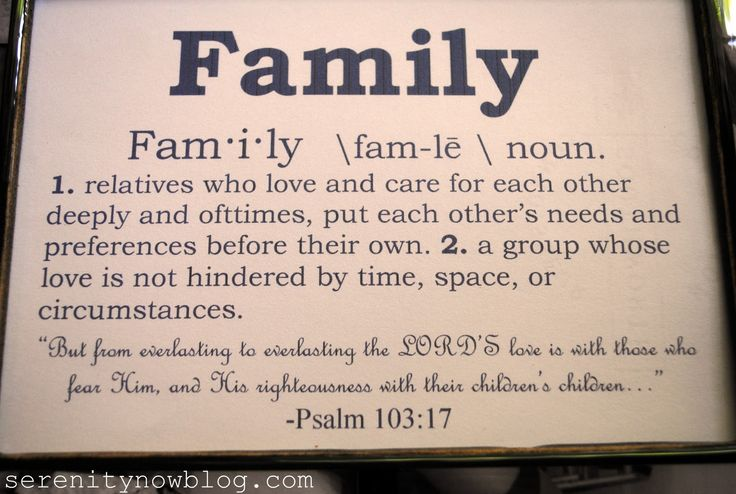 Family Relatives Who Love And Care For Each Other Deeply