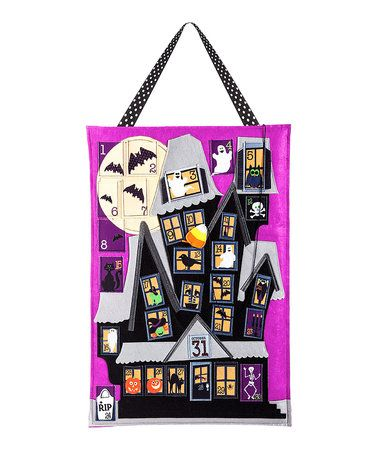 Countdown to Halloween Door Hanger #zulily #zulilyfinds
