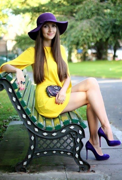 amarillo y morado, linda combinación