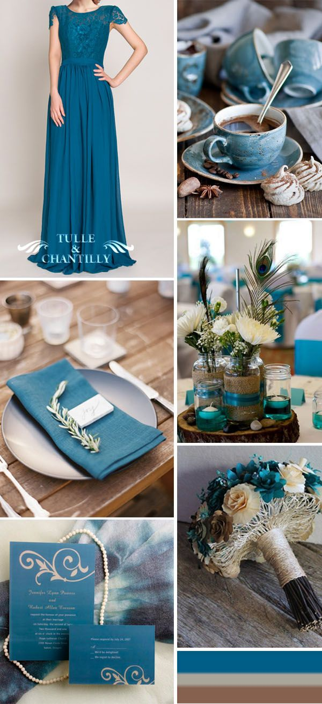 rustic and vintage teal wedding ideas,bridesmaid dresses and wedding invitations