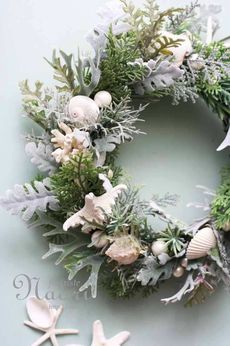 Wreath of Sea Forest.  Where can't your put seashells?  Love it!