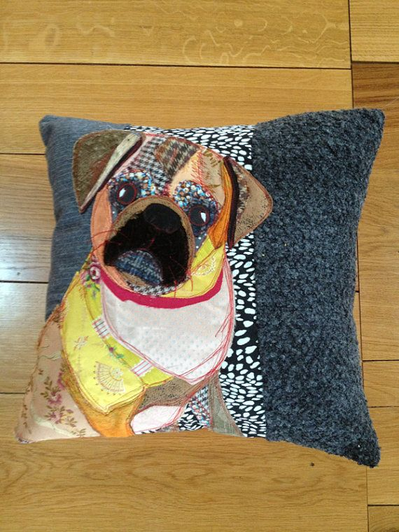 Decorative pillows A Unique  handmade appliqued by PandRCreations, £115.00