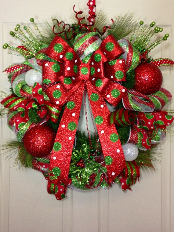 Christmas Pine Wreath by WilliamsFloral on Etsy, $95.00
