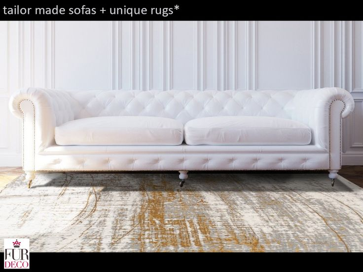 Fur Deco | cotton wool rug griff - colombus gold