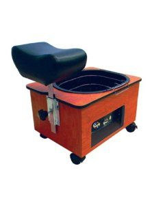 Portable Footsie Bath Pedicure Spa - disposable/recyclable liners, could similar with a drawer under pedi bench