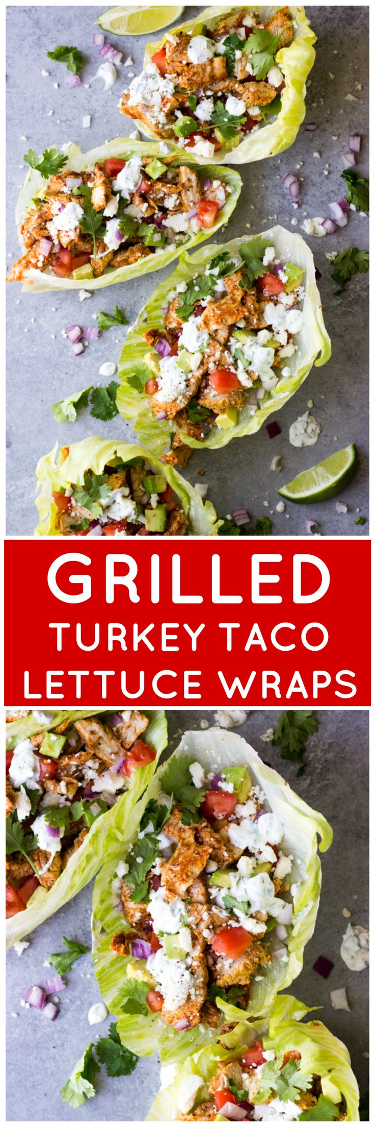 Grilled Turkey Taco Lettuce Wraps - low carb turkey lettuce wraps that are not only healthy but super easy to make | littlebroken.com @littlebroken #700Reasons