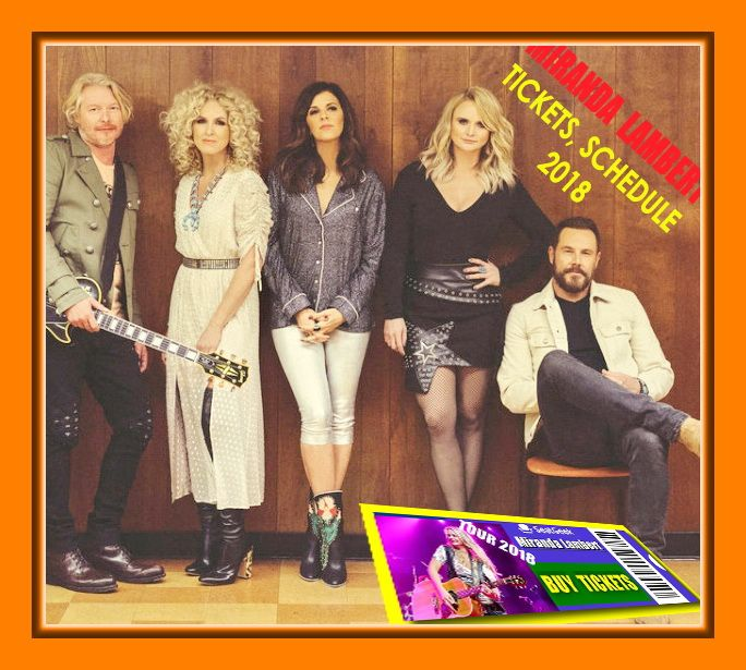Country music superstars and GRAMMY, CMA and ACM Award-winners Miranda Lambert and Little Big Town announce their co-headlining tour, The Bandwagon Tour, scheduled to hit the road summer 2018.  The joint tour kicks off July 12th in Charlotte, North Carolina and will take the country music troupe along the U.S. Atlantic seaboard, Southeast and Midwest regions. - The easiest way to buy concert tickets (seller – SeatGeek). Miranda Lambert - Tour 2018 - Tickets & Tour dates, Schedule