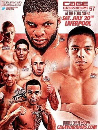 13.07.2013 Cage Warriors 57 Fightcard mit Paul Daley und Bruno Carvalho