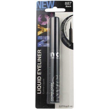 NYC New York Color Liquid Eyeliner, 887 Pearlized Black, 0.17 fl oz - Walmart.com