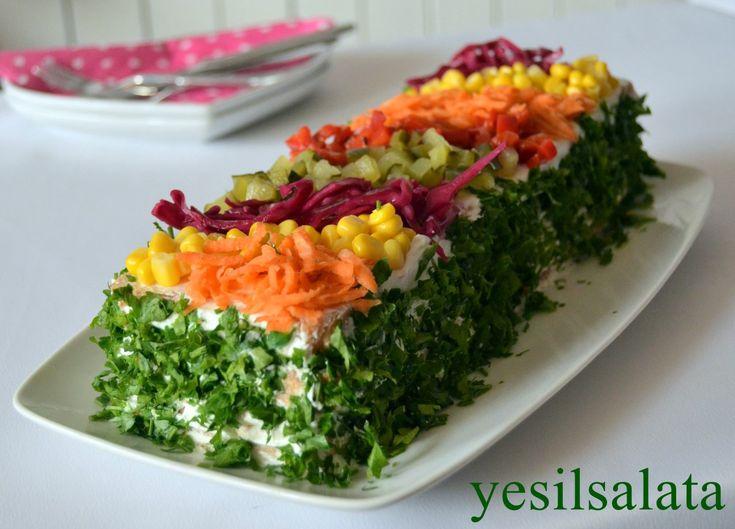 Salata sevenler bu nefis tarif sizlere gelsin 😄😄 Kime yaptıysam çok beğendi 👌👌Hem pratik hem lezzetli 😉 Bir gece öncesinden yapabilirsiniz.. Ölçüyü çoğaltmak elinizde 👌💗💗 Malzemeler: 1 paket etimek…