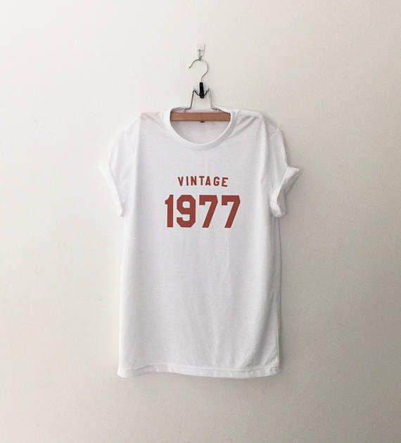 40ème anniversaire cadeau chemise femme pour son graphique 1977 anniversaire t shirt tshirt tee femmes t-shirts