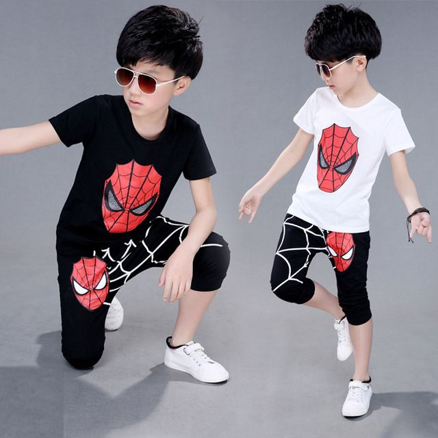 Special offer Spiderman Boys Clothes Cotton Kid SportsWear Tracksuit Outfit Suit 4 5 6 7 8 9 10 11 12 Years Summer kids clothing set 2 pieces just only $11.48 with free shipping worldwide  #boysclothing Plese click on picture to see our special price for you