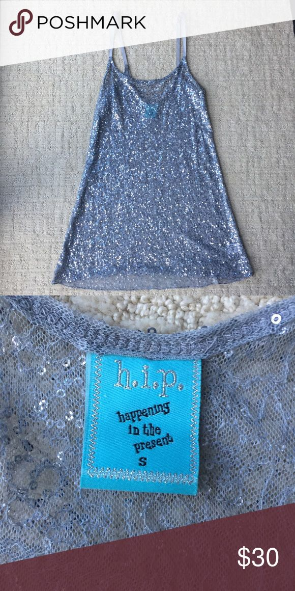 NWOT sequins tank top NWOT sequins tank top. Size S. Kind of see thru- Cute worn over bandeau. Tops Tank Tops